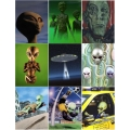 Alien Magnets 9 Pack Set 2