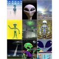 Alien Magnets 9 Pack Set 1