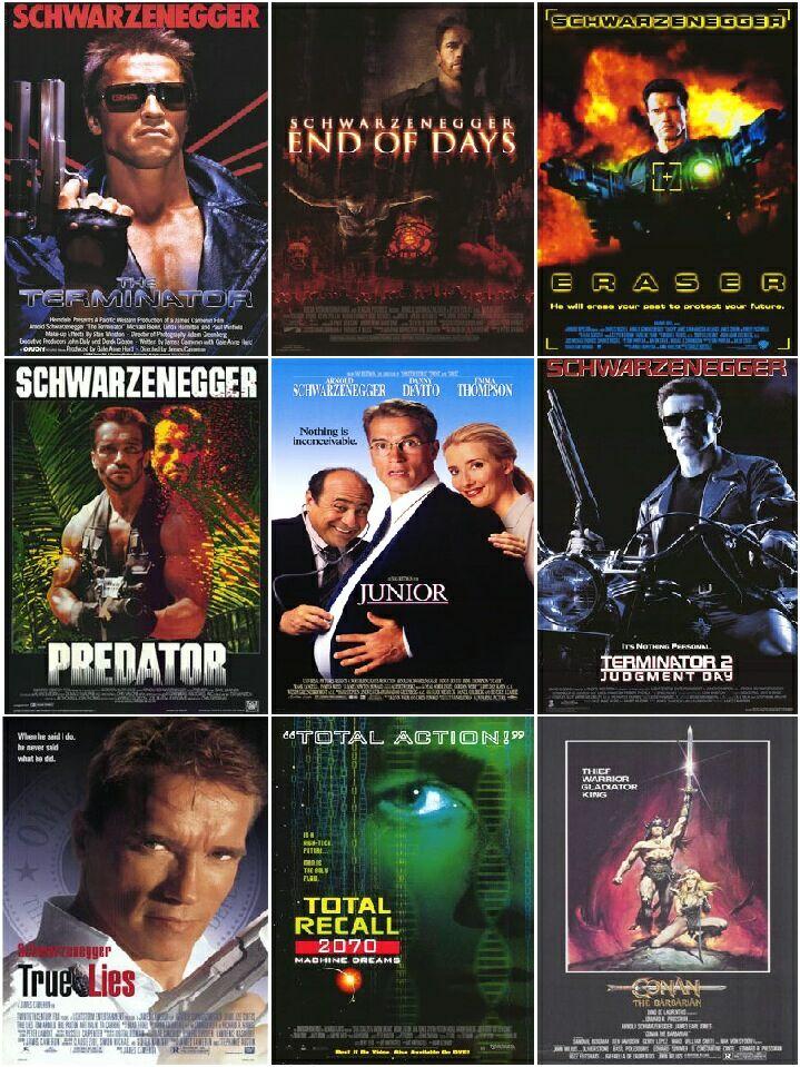 Arnold Schwarzenegger Movie Posters 9set 1